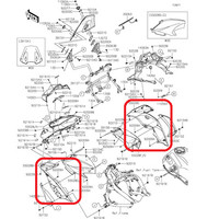 DISCON Fairing / Cowling Samping Kawasaki Versys 650 Original, Ready S
