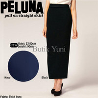 TERMURAH Rok Span Panjang Polos / Peluna