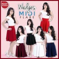 Rok Wanita Wedges Midi Flare Bandage Fever (CSK111)