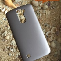 Hardcase Case LG K10 Polos Casing HP Cover Silver Plastik Keras