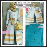 Della longcoat / dress simple / baju hijab grosiran mur Berkualitas