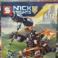 MOLTOR BATTLE MECH Blocks Lego NEXO KNIGHTS Lava Monster Ksatria Robot