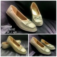 harga Sepatu Flat Pita Tali - Krem Tokopedia.com