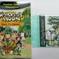 buku harvest moon back to nature ps1 paket dengan kaset