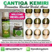 Jual Paket Penyubur Rambut Alami CANTIQA KEMIRI (Minyak Kemiri + Saripati) Murah