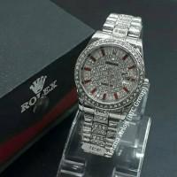 Istana Arloji//Jam Tangan Wanita Rantai Rolex Mewah Tanggal Kw Super