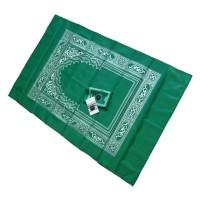 Sajadah Lipat + Kompas + Tas Souvenir Haji ibadah islam umroh travel