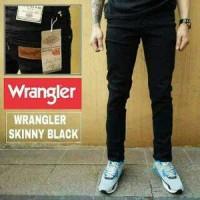 Jual celana jeans skinny slimfit wrangler hitam pekat (qia collection) Murah