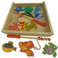 Mancing Mania, kolam mancing mainan edukatif edukasi kayu anak SNI TK