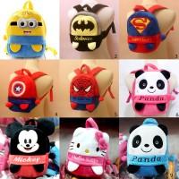 Tas Ransel Boneka Minion batman spiderman superman kapten panda mickey