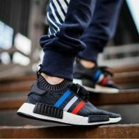 """Adidas NMD Tricolor Primeknit """" Black """"Premium Original / sepatu lari"""