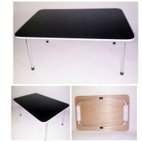 Meja Lipat Polos Hitam Anak (Bahan Multipleks bukan Particle Board)