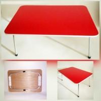 Meja Lipat Polos Merah Anak - Bahan Multipleks bukan Particle Board