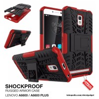 Lenovo A6600 A6600+ Plus Shockproof Armor Hybrid Hard & Soft Case