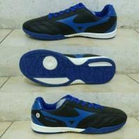 Sepatu Futsal Mizuno Neo Shin Hitam list Biru Grade Ori