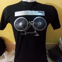 kaos pria RSCH sepeda,t shirt RSCH,kaos pria RSCH sepeda hitam