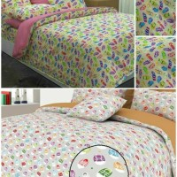 Sprei katun lokal halus motif Zapata Sandals/Shoes uk.160x200/180x200