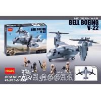 LEGO BRICK DECOOL 2113 BELL BOEING V-22 MILITARY CARRIER HUMVEE 318PCS