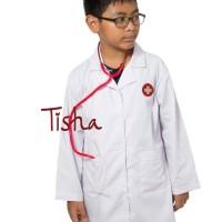 Harga jas dokter uk 7 tangan panjang usia 7 8 tahun baju dokter | antitipu.com