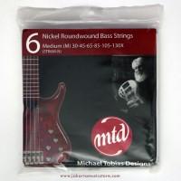 Senar Bass MTD Nickel Roundwound 6 - Medium 30-130X strings
