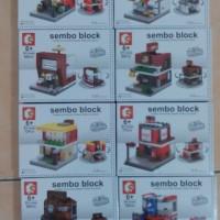 Mini City Series SD6600-6607 - Sembo Block - Lego compatible