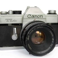Kamera Analog Film Canon TLb Lensa Fd 50mm F1.8 Sc Tajam