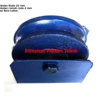 Roda Pagar 8 cm Bahan Besi Lebur Model Bulat