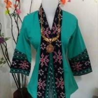 Kebaya/Pakaian/Baju Tenun Ikat Blanket Ibu Dermawan