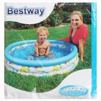 Bestway Coral Kids Pool Biru Putih. Kolam Karet Renang Anak