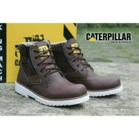 sepatu caterpillar safety boots NEW KANSAS darkbrown