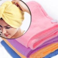 harga Microfiber Magic Towel / Handuk Pengering Rambut Mikrofiber Tokopedia.com