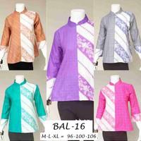 BLOUSE / blus / atasan batik wanita kantor katun BAL-16 BLUS ANDINI