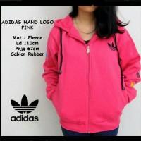 Adidas Hand Logo Pink / Jaket Murah / Grosir Jaket
