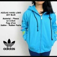 Adidas Hand Logo Sky Blue / Jaket Murah / Grosir Jaket