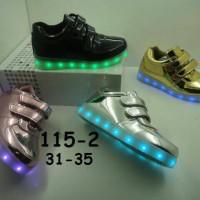 Jual Sepatu anak LED + charger ukuran 31-35 (item 115-2) Murah