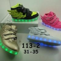 Jual Sepatu anak LED + charger ukuran 31-35 (item 113-2) Murah