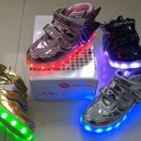 Jual Sepatu anak LED + charger ukuran 31-35 (item 115-6) Murah