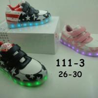 Jual Sepatu anak LED + charger ukuran 26-30 (item 111-3) Murah
