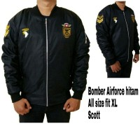 Jaket Bomber Air Force Hitam Scoot