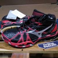 Sepatu Volly Mizuno Wave Tornado 9 Mid Premium (Free tas sepatu)