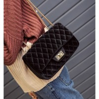TAS SELEMPANG CLUTCH BLACK IMPOR FASHION PESTA BELUDRU MURAH MODIS