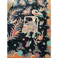 Kain Batik Printing Wayang Hitam Orange