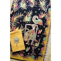 batik wayang lama kuning mix embos