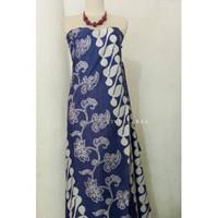Batik cap barong seling biru