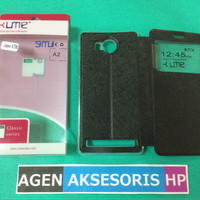Flipcover Lenovo A7700 5.5 inchi Leather Case UME Classic Sarung Buku