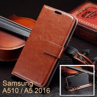 Samsung A5 (2016) Leather Flip Wallet Case Cover