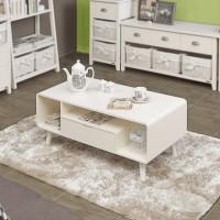 Flint Coffe Table (Ivory) - Meja Sofa