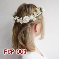Jual Aksesoris Flower Crown Pesta Wedding l Mahkota Bunga Wanita - FCP 001 Murah