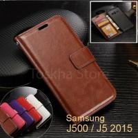 Samsung J5 (2015) Leather Flip Wallet Case Cover