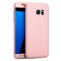 Samsung S7 Edge 360 Full Cover Baby Skin Ultra Thin Hard Case Rose
